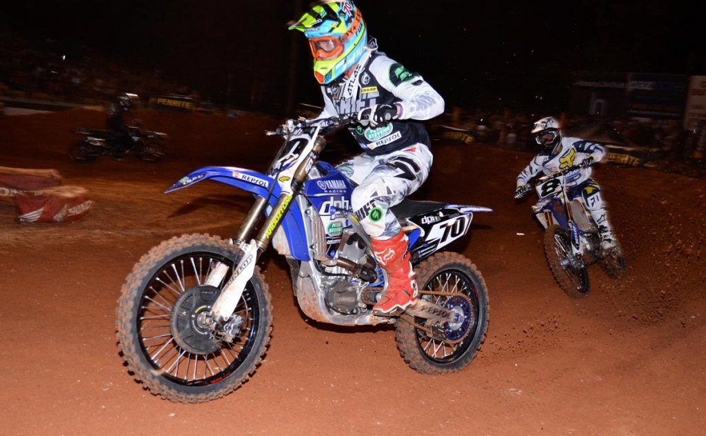 DPH Motorsport Peter Stevens Yamaha's Lawson Bopping (70) was in blistering form tonight, taking the SX1 Final win at the grand final of the 2015 Penrtie Oils Australian Supercross Championships presented by Ryco Filters.