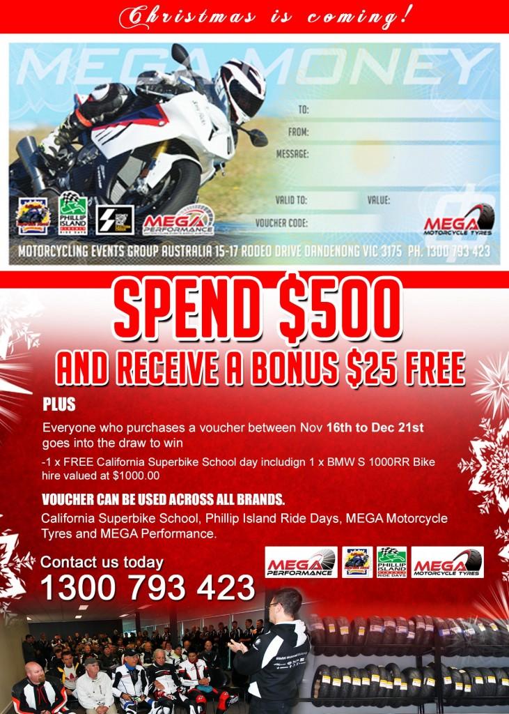 MEGA Money Gift Vouchers For Christmas