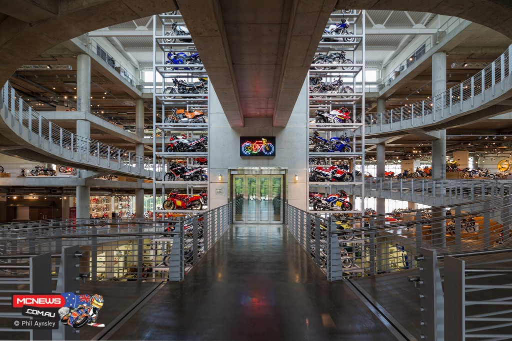 The highly impressive view upon entering the Barber Vintage Motorsports Museum in Alabama. by Phil Aynsley