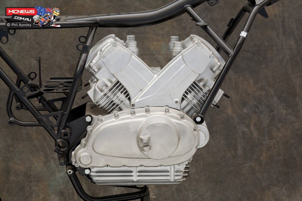 Ducati Factory, Bologna, Italy - 1976 Ducati 1000cc 90-degree V4 SOHC - By Phil Aynsley
