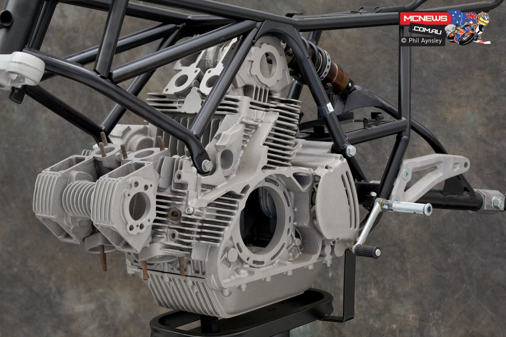 Ducati Factory, Bologna, Italy - 1982 Ducati Pantah like V4 SOHC 2-valve per cylinder - By Phil Aynsley