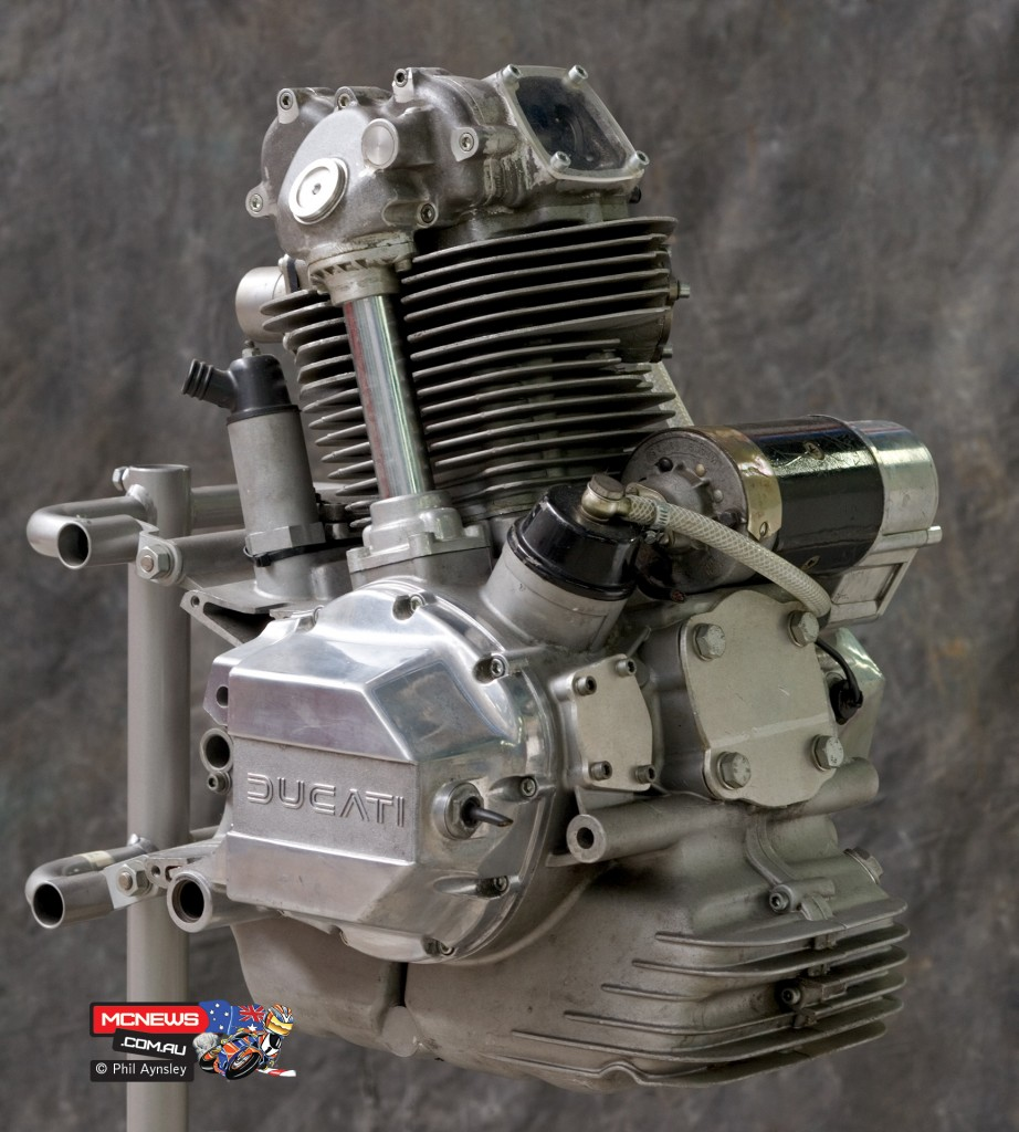 Ducati Factory, Bologna, Italy - 1975 modofieid Ducati bevel drive 500cc single-cylinder four-valve - By Phil Aynsley