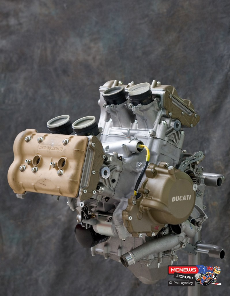 Ducati Factory, Bologna, Italy - Ducati Desmosedici RR development engine - By Phil Aynsley