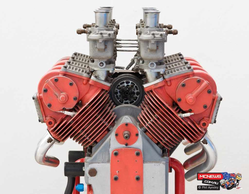 Ducati Factory, Bologna, Italy - 1960 1500cc air-cooled desmo Formula 1 motor that was never raced - By Phil Aynsley