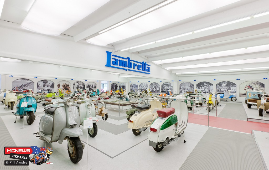 A small part of the highly impressive private collection of scooters at Casa Lambretta, Milan. By Phil Aynsley