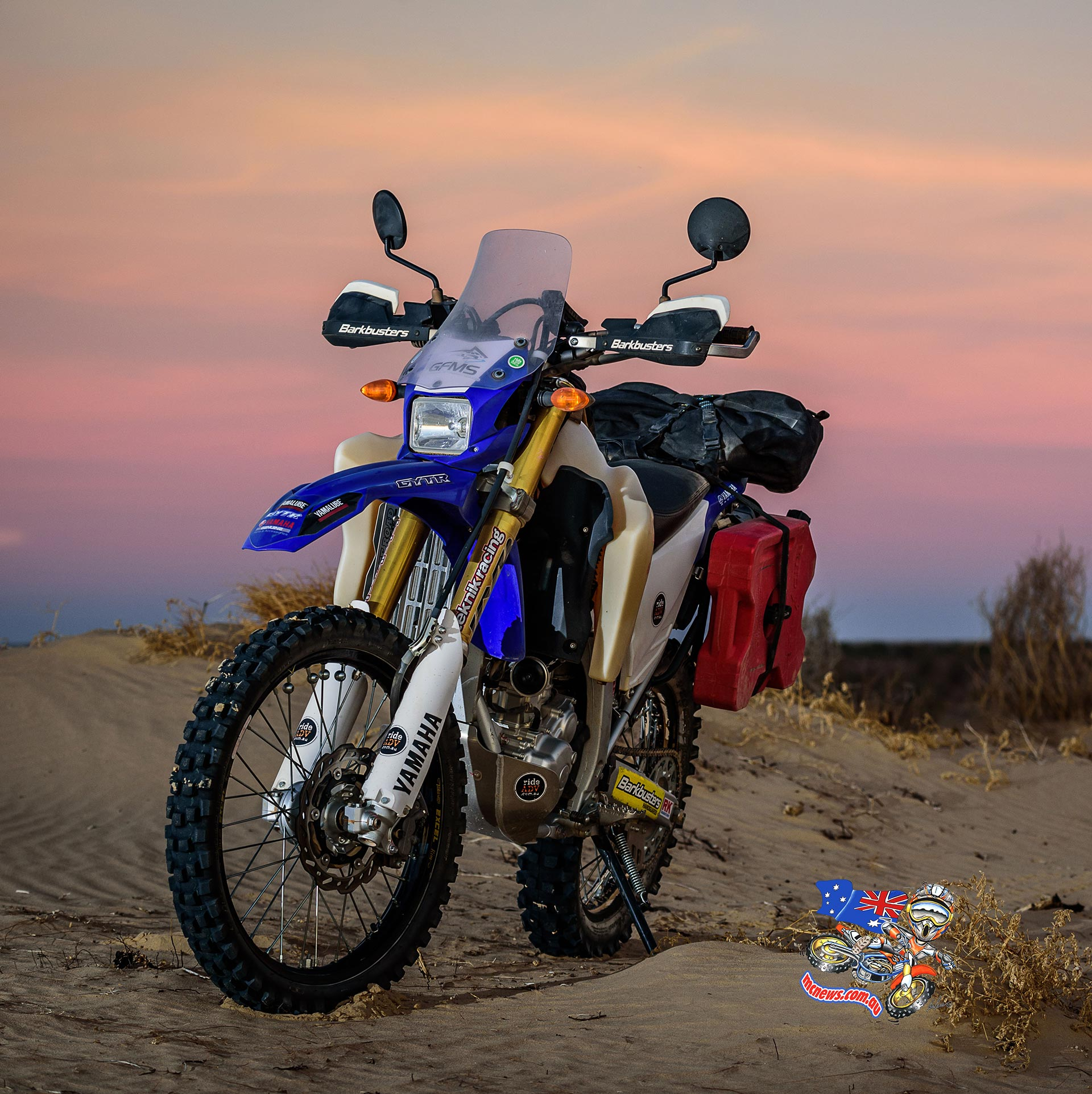 Yamaha WR250R in the desert