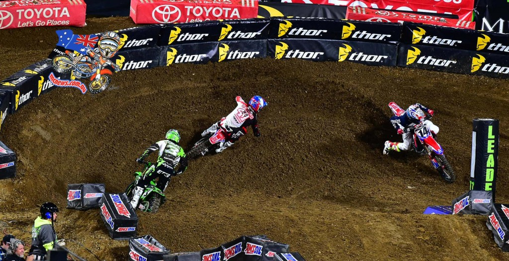 Cole Seely here in front of Trey Canard and Eli Tomac
