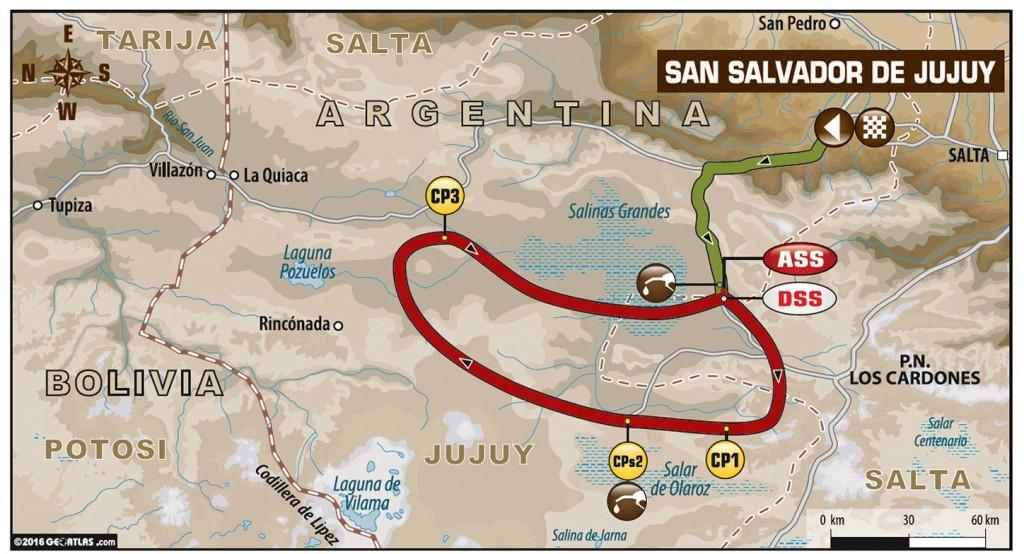Dakar 2016 - Stage Four Map