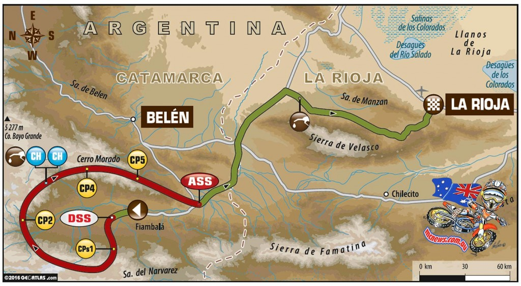 Dakar 2016 - Stage Ten Route Map