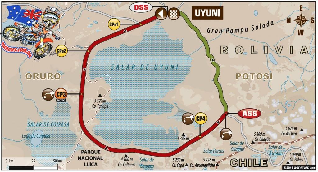 Dakar 2016 - Stage Six Map