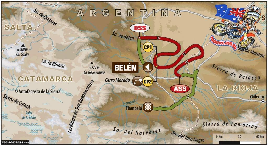 Dakar 2016 - Stage 9: Belén – Belén - Special sections: 285km - Total: 436km