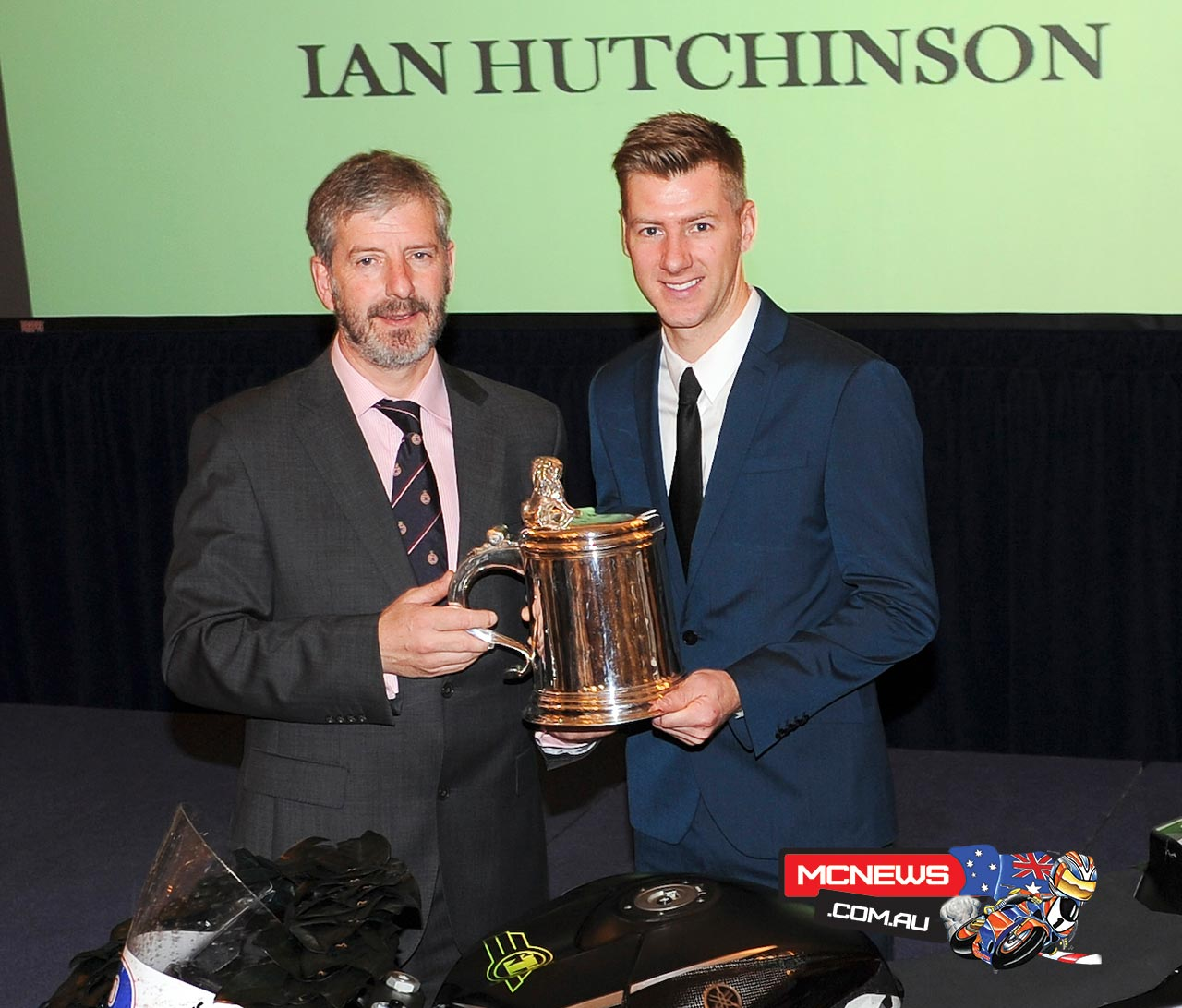 Isle of Man TT road racer Ian Hutchinson awarded the Royal Automobile Club's Torrens Trophy