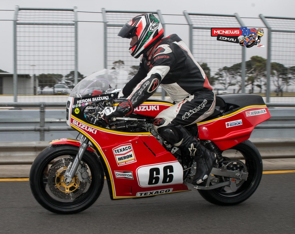 Island Classic 2016 - Qualifying - Grant Dalton heads out of pitlane this morning for qualifying, the machine did not return looking quite as good...