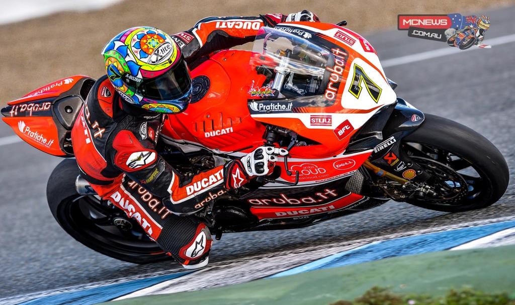 WorldSBK 2016 - Jerez Test Jan - Image by Ducati - Chaz Davies