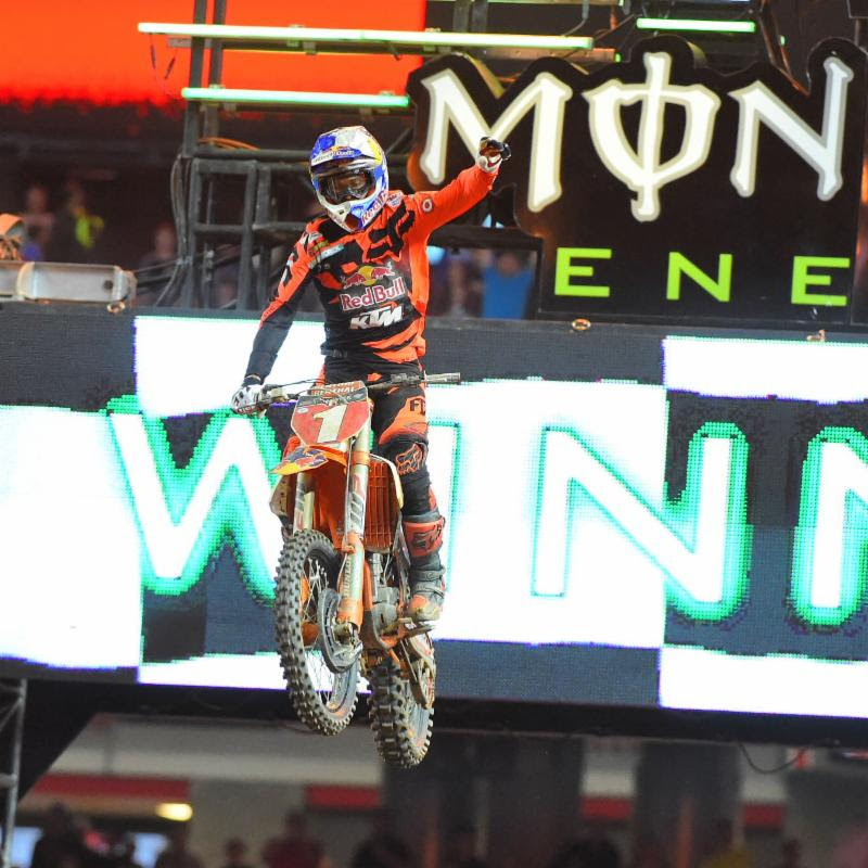 Ryan Dungey won for the fifth time in 2016.  Photo Credit: Simon Cudby