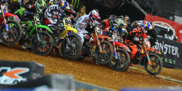 Ryan Dungey continues to lead the 450SX Class Championship. Photo Credit: Simon Cudby
