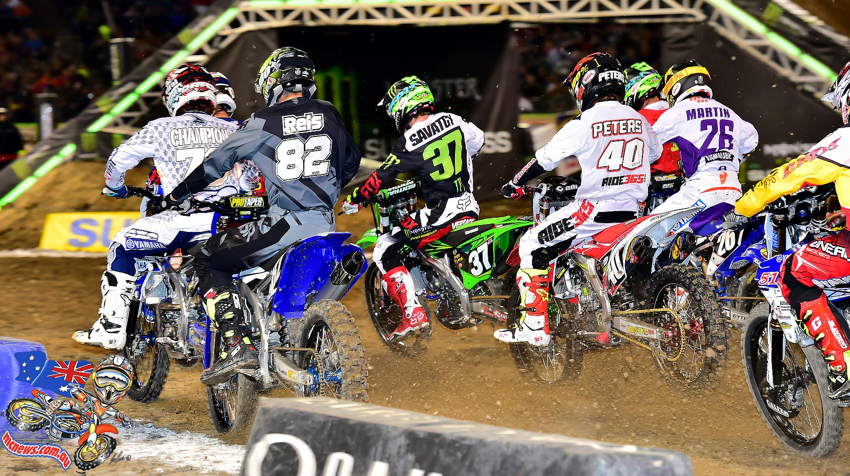 AMA SX 2016 - Round Four - Oakland - Image by Hoppenworld - 250 Start