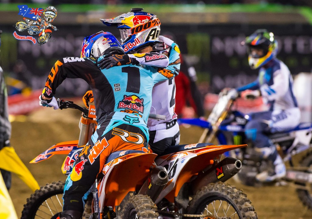 AMA SX 2016 - Round Four - Oakland - Image by KTM - Ryan Dungey and Marvin Musquin