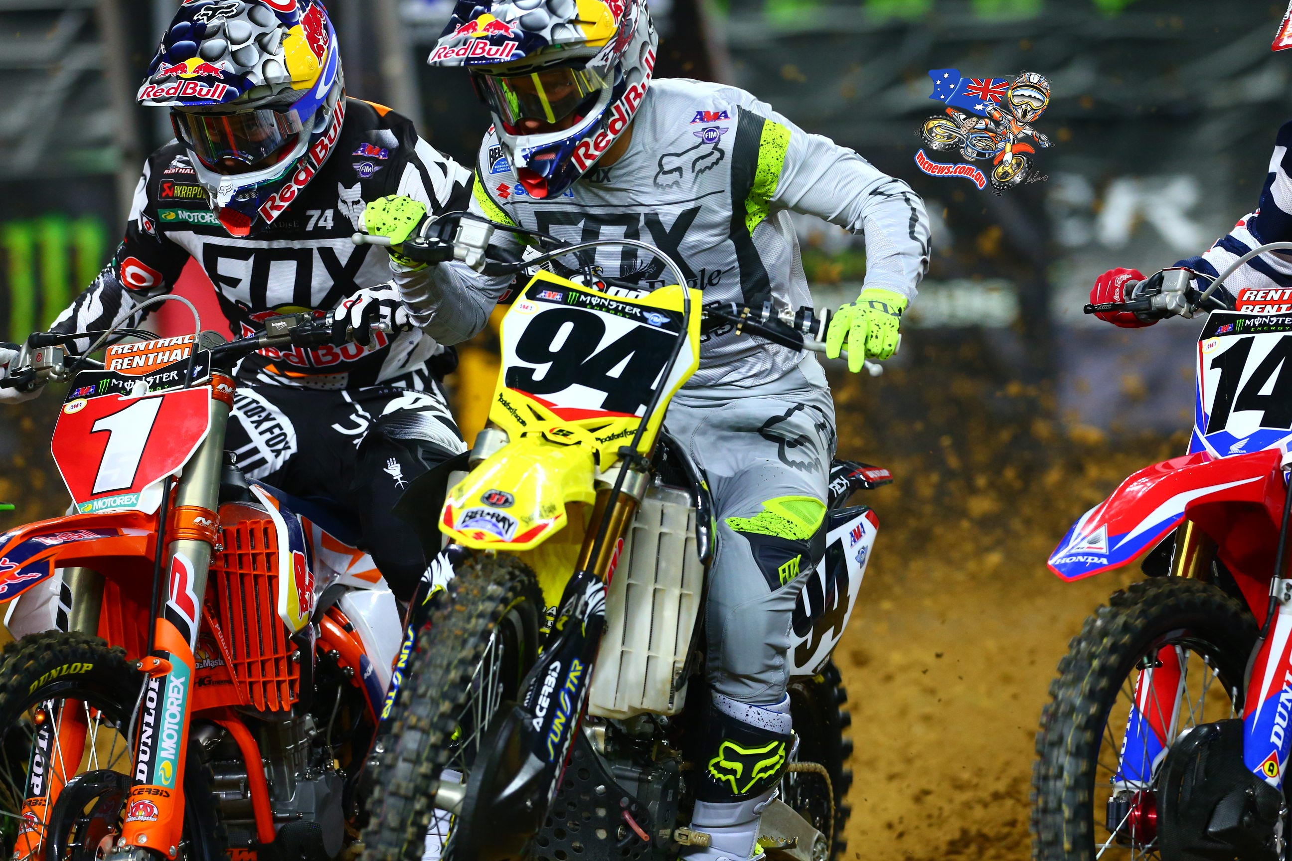 AMA SX 2016 - Round Seven - Arlington - Ryan Dungey and Ken Roczen - Image by Hoppenworld