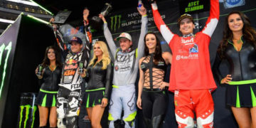 Jason Anderson (right) finished on the podium for the first time since the opening race. Photo Credit: Simon Cudby