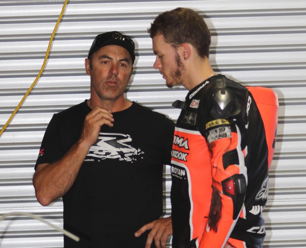 Australian Superbike Test - February 2016 - Phillip Island - Image by Mark Bracks - Brayden Elliott with Shawn Giles