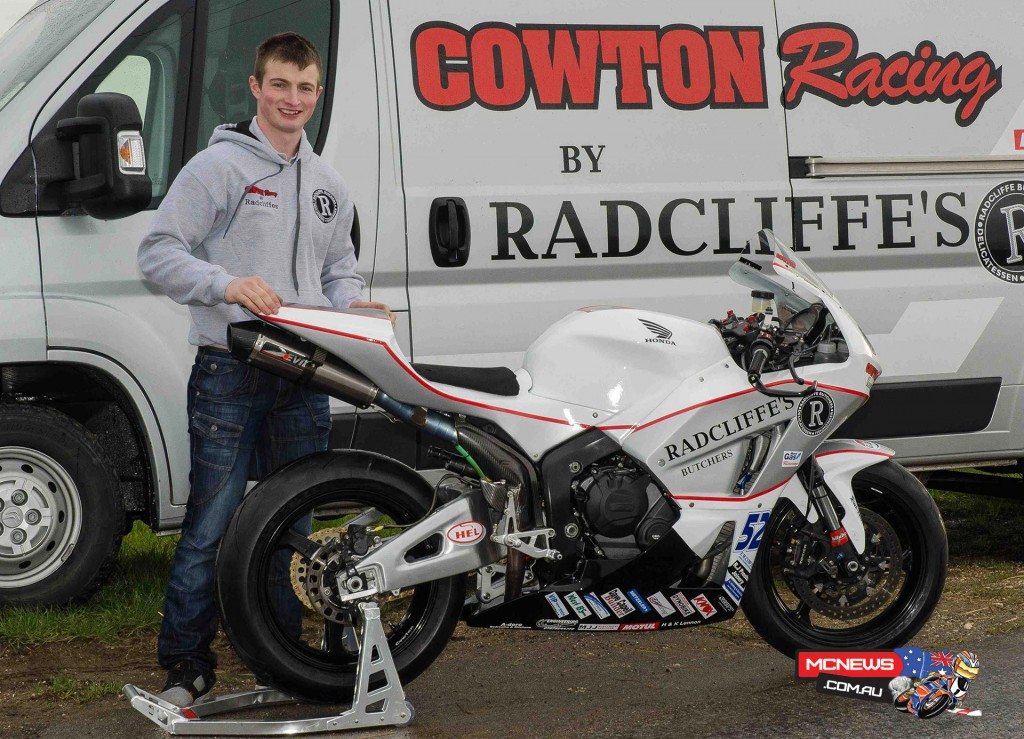 James Cowton pictured with his race van and Honda CBR600, both sporting the striking new Cowton Racing by Radcliffe's livery