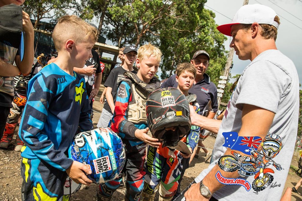 Robbie Maddison signing autographs - Daniel McCoy Fundraiser - Oakdale MCC - Image by Kendall Jennings