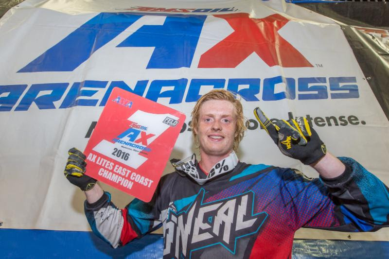 Daniel Herrlein is the 2016 Eastern Regional Arenacross Lites Class Champion. Photo: ShiftOne Photography