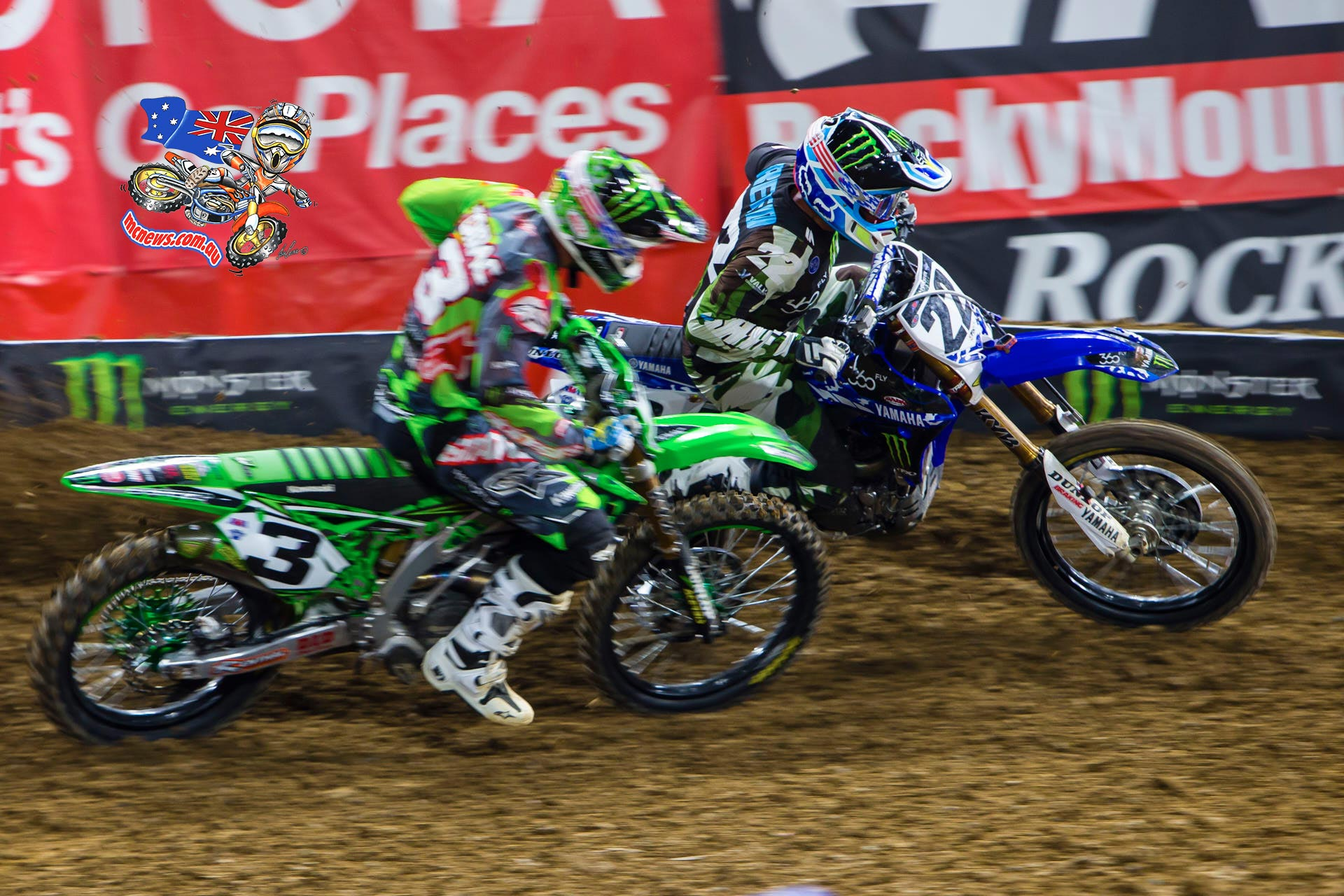 Eli Tomac and Chad Reed do battle - Image by Hoppenworld