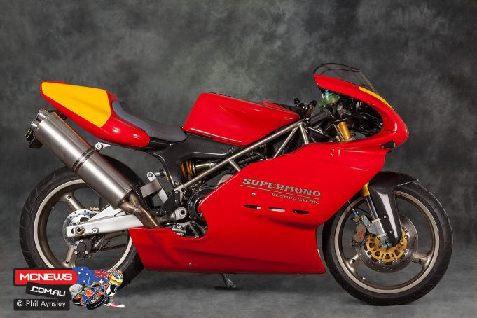 Alistair Wager's Ducati Supermono derived Strada - Image by Phil Aynsley