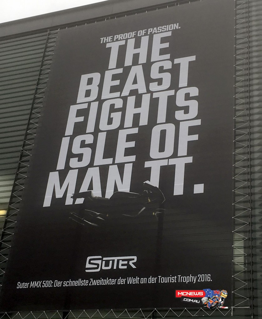 Suter HQ proudly proclaims the challenge they have undertaken on the side of their building