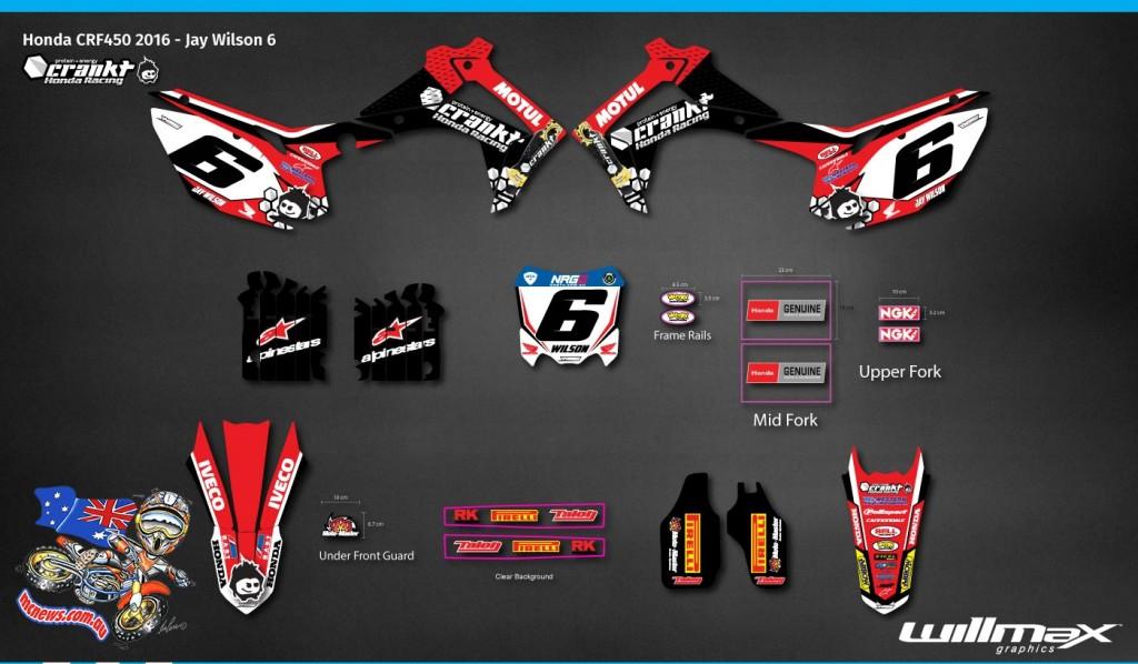 Crankt Team Honda Racing - Jay Wilson Graphics 2016