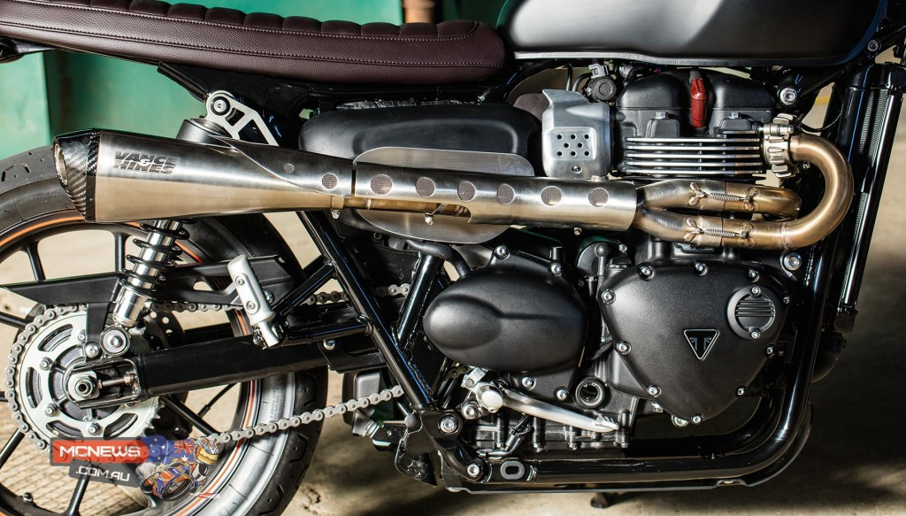 2016 Triumph Street Twin - high-level Vance & Hines full exhaust system as featured in the 'Scrambler' kit
