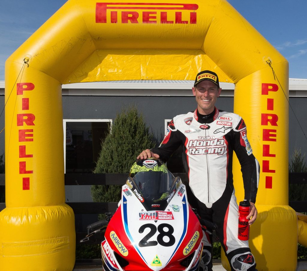 Troy Herfoss under the Pirelli banner - Image by Andrew Gosling/tpgsport