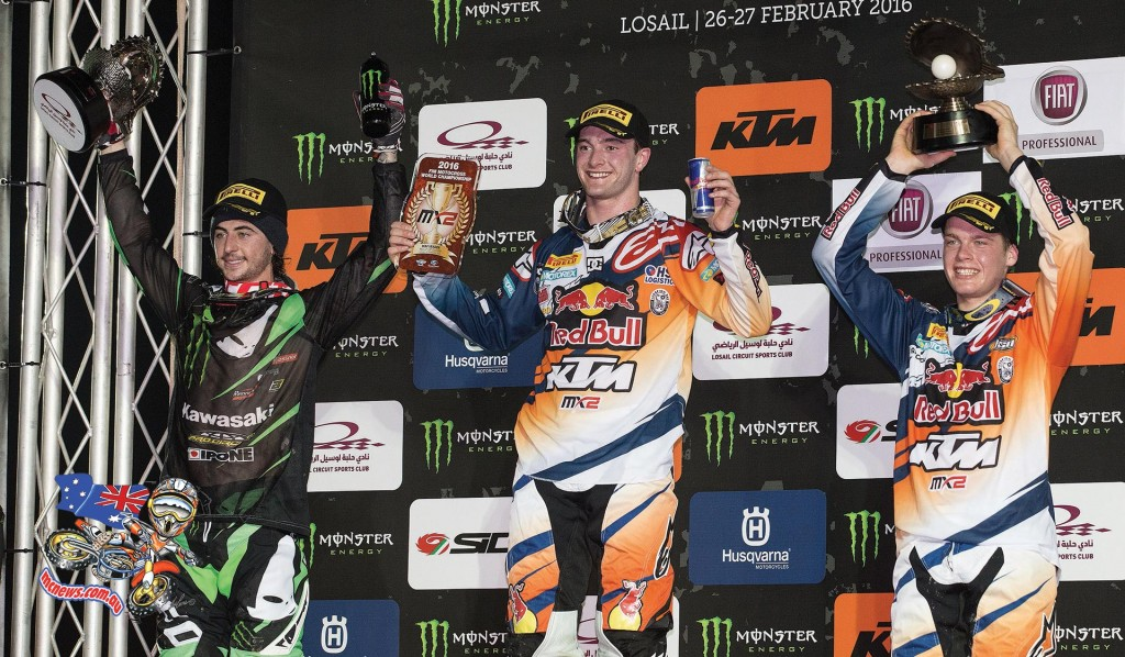 World MX 2016 - Round One - Qatar - Podium