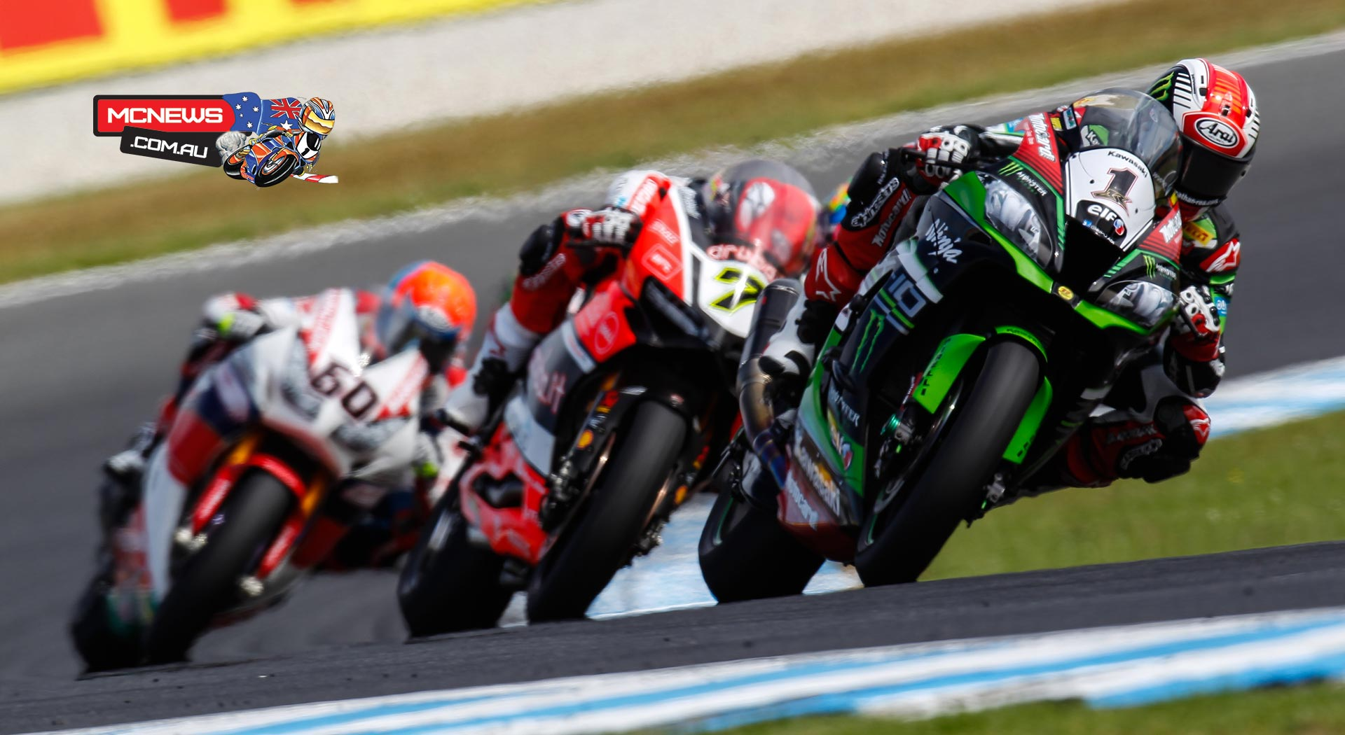 WorldSBK 2016 - Round One - Phillip Island - Tom Sykes and Chaz Davies