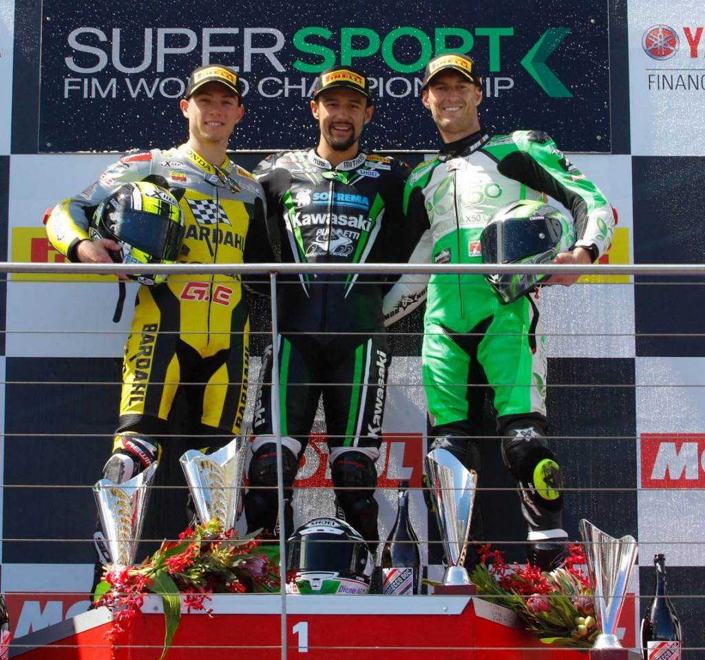 WorldSBK 2016 - Round One - Phillip Island - World Supersport Podium