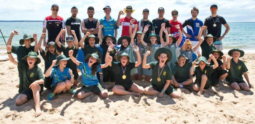 WorldSBK Riders at Cowes Beach