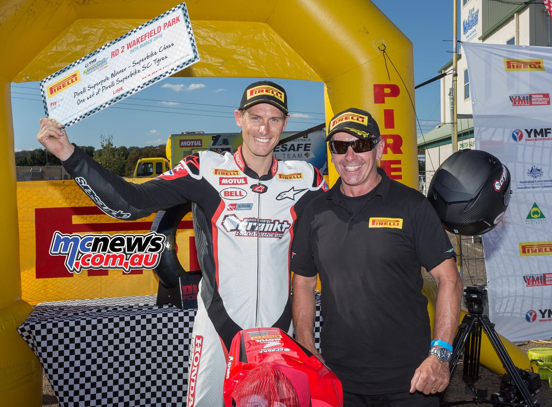 Troy Herfoss takes Superpole - ASBK 2016 - Round Two - Wakefield Park - Image by TBG