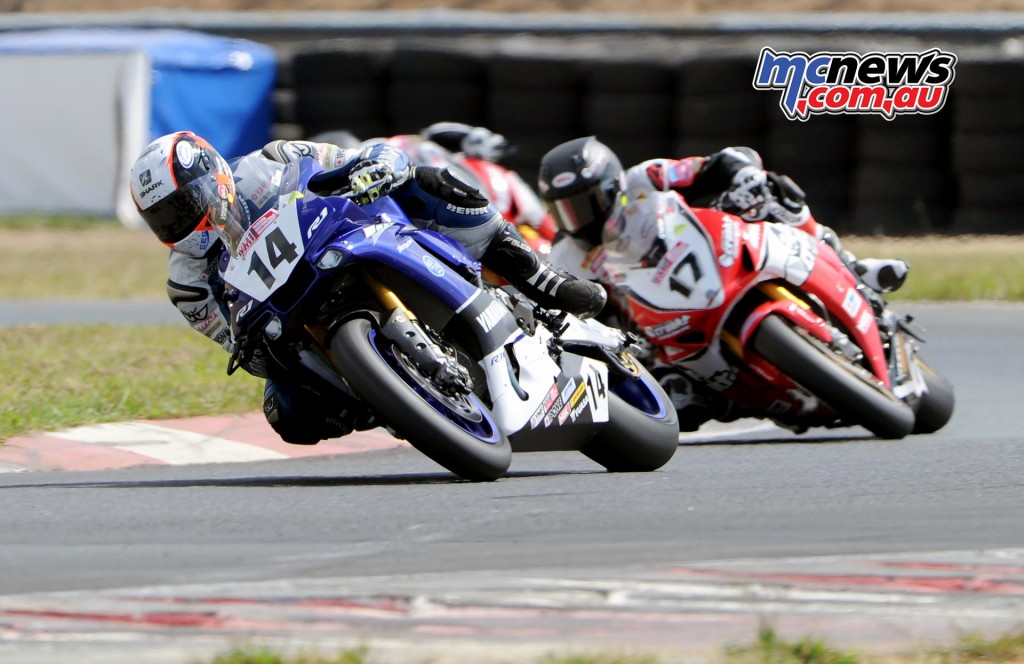 Glenn Allerton, Troy Herfoss, Anthony West - ASBK 2016 - Wakefield Park - Image by Keith Muir