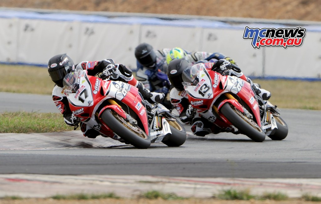 Troy Herfoss, Anthony West, Cru Halliday - ASBK 2016 - Wakefield Park - Image by Keith Muir