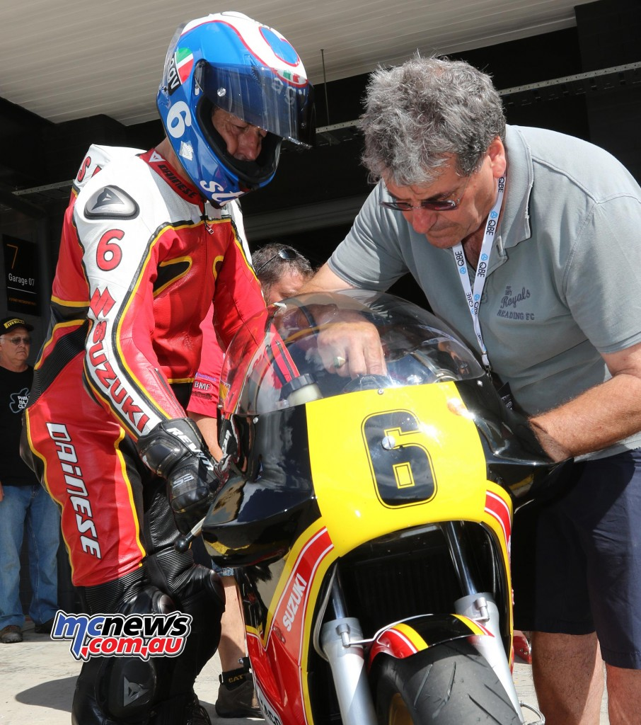 Steve Parrish and Stu Avant - Barry Sheene Festival of Speed 2016 - Image by Mark Bracks