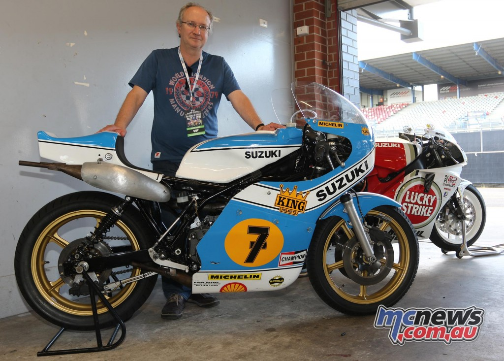 Steve Wheatman and his bikes - Barry Sheene Festival of Speed 2016 - Image by Mark Bracks