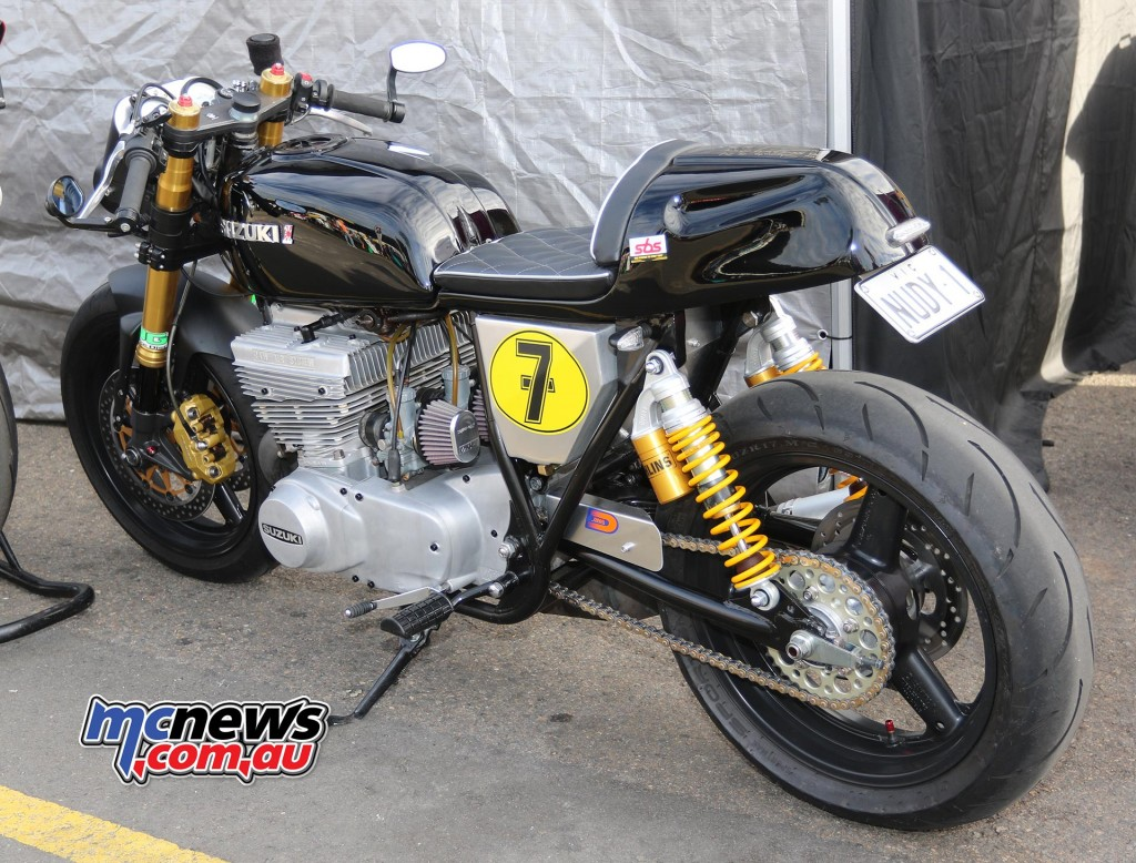 A very tasty Suzuki - Barry Sheene Festival of Speed 2016 - Image by Mark Bracks