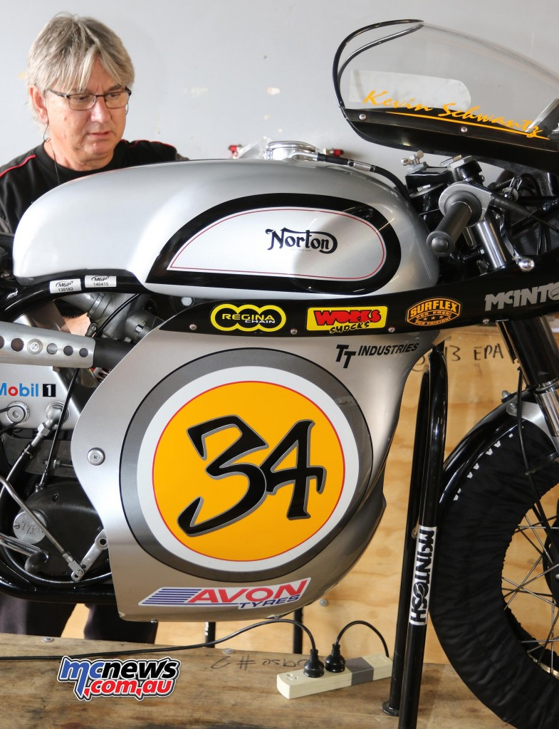 Kevin Schwantz Norton - Barry Sheene Festival of Speed 2016 - Image by Mark Bracks