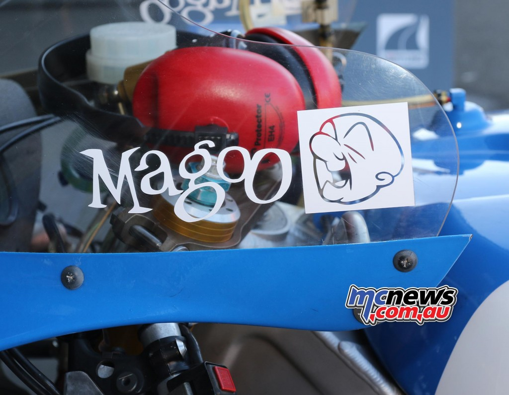 Kevin Magee Magoo Logo - Barry Sheene Festival of Speed 2016 - Image by Mark Bracks