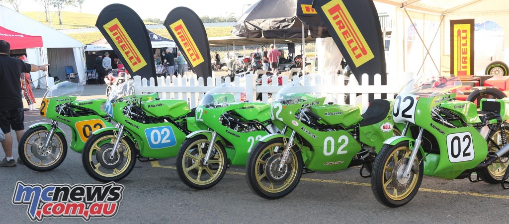 Gregg Hansford bikes - Barry Sheene Festival of Speed 2016 - Image by Mark Bracks