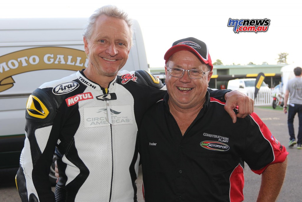 Kevin Schwantz and Dave Cullen - Barry Sheene Festival of Speed 2016 - Image by Mark Bracks