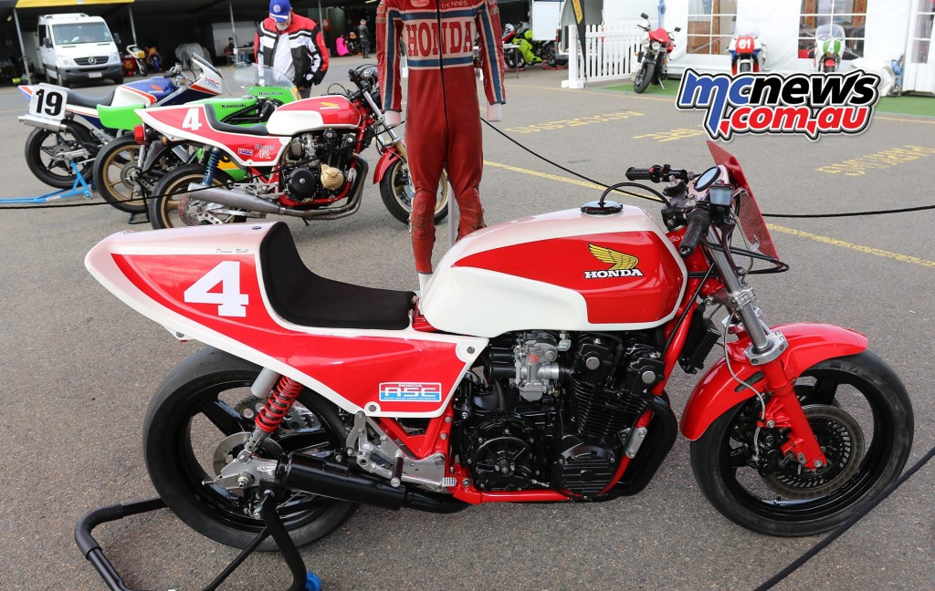 Dennis Neill bikes - Barry Sheene Festival of Speed 2016 - Image by Mark Bracks