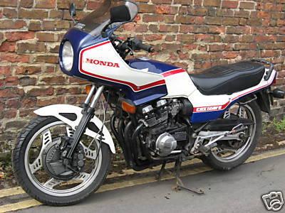 Honda CBX550 - Red white and blue colour scheme